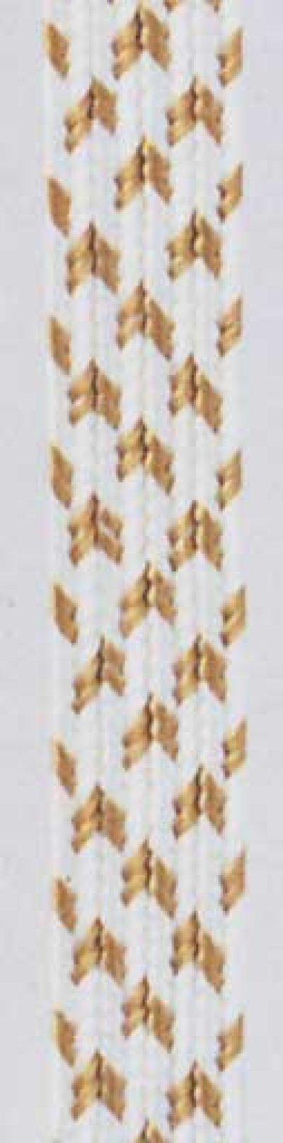 画像1: 表具用紐【茶柄】中90尺(30m)