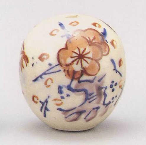 画像1: 清水焼 赤絵松竹梅 (1)