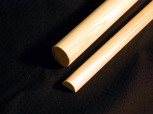 画像1: カット軸棒 軸棒・八双